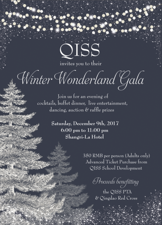 "QISS ""Winter Wonderland"" Gala Invitation"